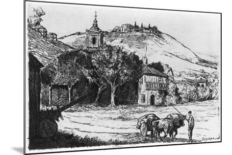 Village En Biscaye, 1924-JP Tillac-Mounted Giclee Print