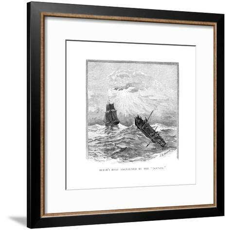 Captain Bligh's Boat Abandoned by the 'Bounty, 1789-JR Ashton-Framed Art Print