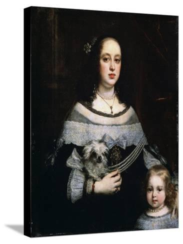 Portrait of a Lady and a Little Girl, C1660-Justus Sustermans-Stretched Canvas Print