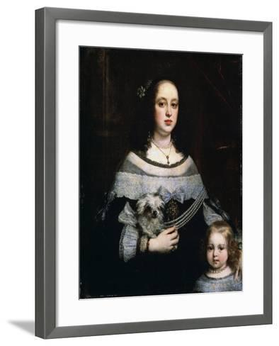 Portrait of a Lady and a Little Girl, C1660-Justus Sustermans-Framed Art Print