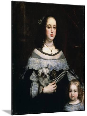 Portrait of a Lady and a Little Girl, C1660-Justus Sustermans-Mounted Giclee Print