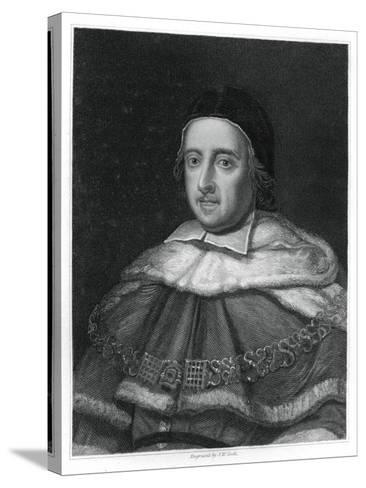 Sir Matthew Hale, Lord Chief Justice of England-JW Cook-Stretched Canvas Print