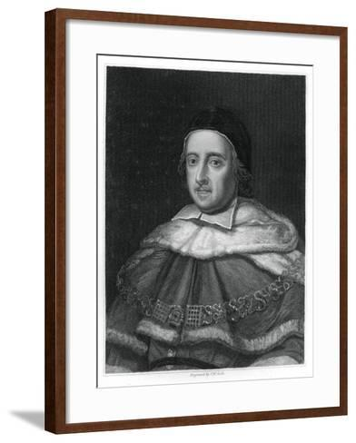 Sir Matthew Hale, Lord Chief Justice of England-JW Cook-Framed Art Print