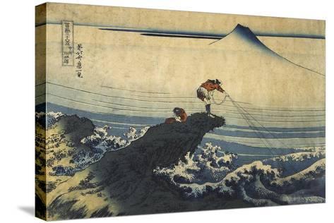 Kojikisawa in the Kai Province, Between 1827 and 1830-Katsushika Hokusai-Stretched Canvas Print
