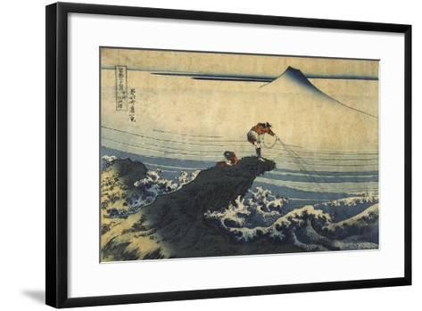Kojikisawa in the Kai Province, Between 1827 and 1830-Katsushika Hokusai-Framed Art Print