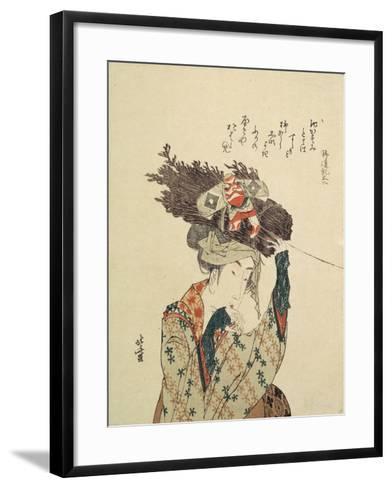 A Girl from Ohara, 1806-1815-Katsushika Hokusai-Framed Art Print