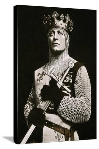 Lewis Waller (1860-191), Actor and Theatre Manager, in Henry V, 1908-1909- Langfier-Stretched Canvas Print
