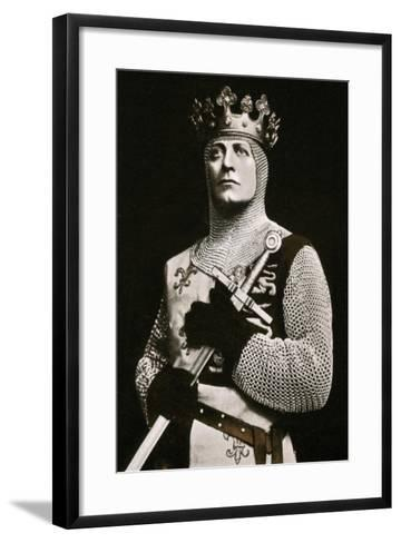 Lewis Waller (1860-191), Actor and Theatre Manager, in Henry V, 1908-1909- Langfier-Framed Art Print