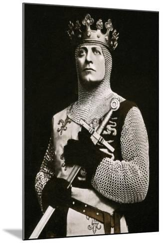 Lewis Waller (1860-191), Actor and Theatre Manager, in Henry V, 1908-1909- Langfier-Mounted Giclee Print