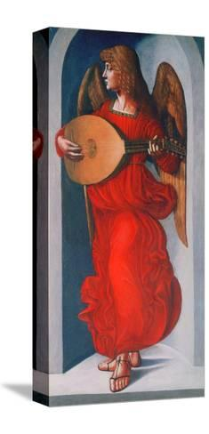 An Angel in Red with a Lute, 1490-1499-Leonardo da Vinci-Stretched Canvas Print