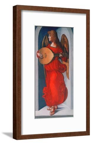 An Angel in Red with a Lute, 1490-1499-Leonardo da Vinci-Framed Art Print