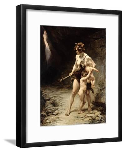 Deux Meres (Two Mothers), 1888-Leon-Maxime Faivre-Framed Art Print
