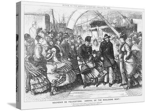 Souvenir De Folkestone (Arrival of the Boulogne Boa), 1873-Joseph Swain-Stretched Canvas Print