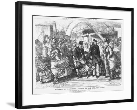 Souvenir De Folkestone (Arrival of the Boulogne Boa), 1873-Joseph Swain-Framed Art Print