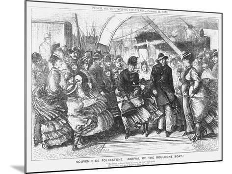Souvenir De Folkestone (Arrival of the Boulogne Boa), 1873-Joseph Swain-Mounted Giclee Print