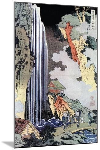 Ono Waterfall Along the Kisokaido, C1780-1849-Katsushika Hokusai-Mounted Giclee Print
