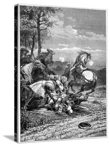 Death of Turenne, Henri De La Tour D'Auvergne, Marshal of France, 1898- Laplante-Stretched Canvas Print