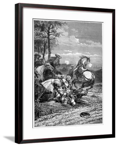 Death of Turenne, Henri De La Tour D'Auvergne, Marshal of France, 1898- Laplante-Framed Art Print