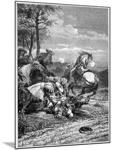 Death of Turenne, Henri De La Tour D'Auvergne, Marshal of France, 1898- Laplante-Mounted Giclee Print
