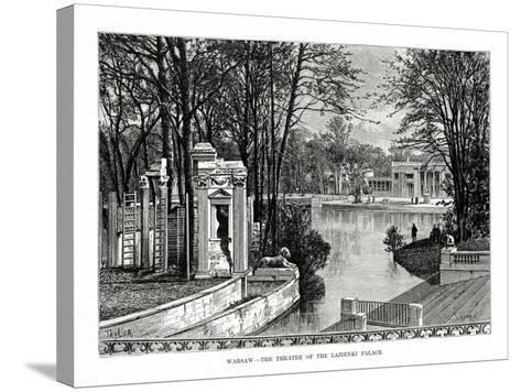 Warsaw - the Theatre of the Lazienki Palace, Poland, 1879- Laplante-Stretched Canvas Print