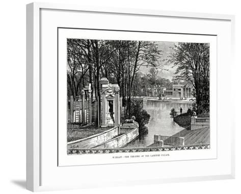 Warsaw - the Theatre of the Lazienki Palace, Poland, 1879- Laplante-Framed Art Print