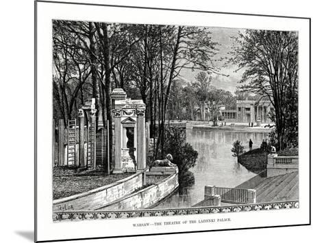 Warsaw - the Theatre of the Lazienki Palace, Poland, 1879- Laplante-Mounted Giclee Print
