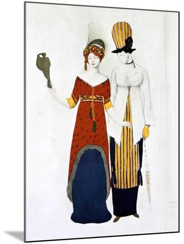 Costume Moderne, 1910-Leon Bakst-Mounted Giclee Print
