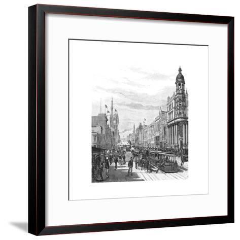 Collins Street Looking East, Melbourne, Victoria, Australia, 1886-JR Ashton-Framed Art Print