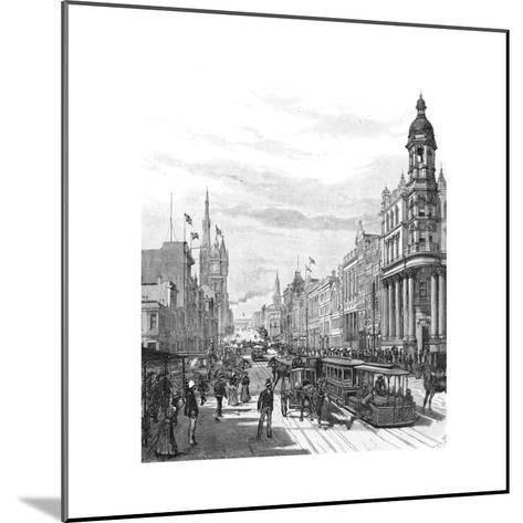 Collins Street Looking East, Melbourne, Victoria, Australia, 1886-JR Ashton-Mounted Giclee Print