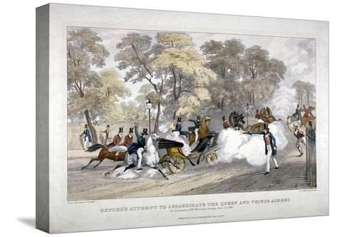 Assassination Attempt Against Queen Victoria, Constitution Hill, Westminster, London, 1840-JR Jobbins-Stretched Canvas Print