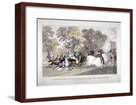 Assassination Attempt Against Queen Victoria, Constitution Hill, Westminster, London, 1840-JR Jobbins-Framed Art Print