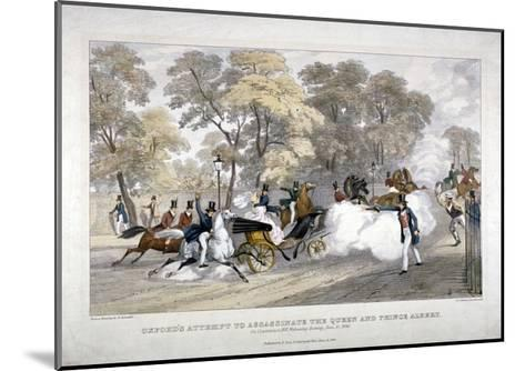Assassination Attempt Against Queen Victoria, Constitution Hill, Westminster, London, 1840-JR Jobbins-Mounted Giclee Print