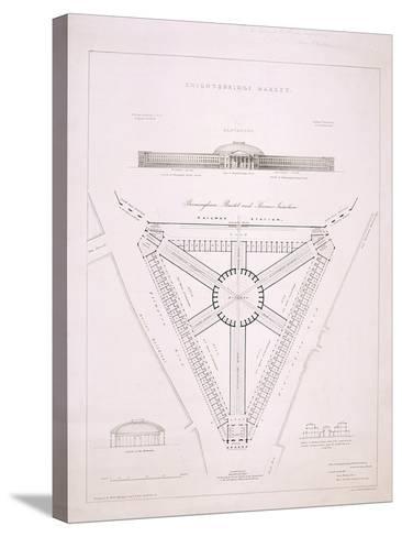 Design for Knightsbridge Market, London, C1840-JR Jobbins-Stretched Canvas Print