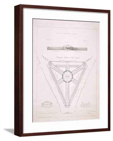 Design for Knightsbridge Market, London, C1840-JR Jobbins-Framed Art Print
