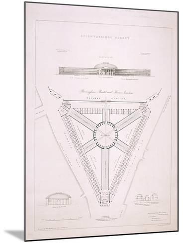 Design for Knightsbridge Market, London, C1840-JR Jobbins-Mounted Giclee Print
