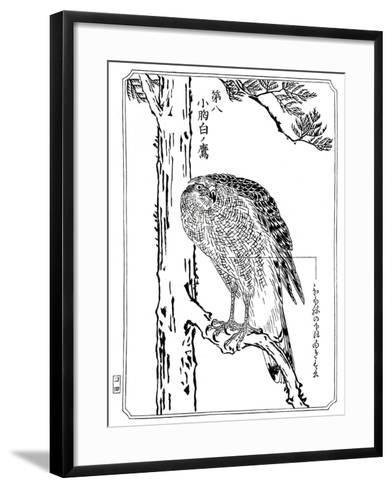 A Hawk, 1898-Kawanabe Kyosai-Framed Art Print