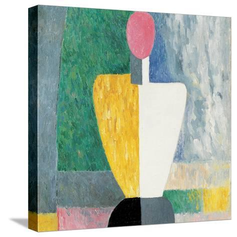 Torso (Figure with Pink Fac), 1928-1932-Kazimir Malevich-Stretched Canvas Print