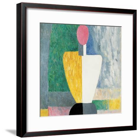 Torso (Figure with Pink Fac), 1928-1932-Kazimir Malevich-Framed Art Print