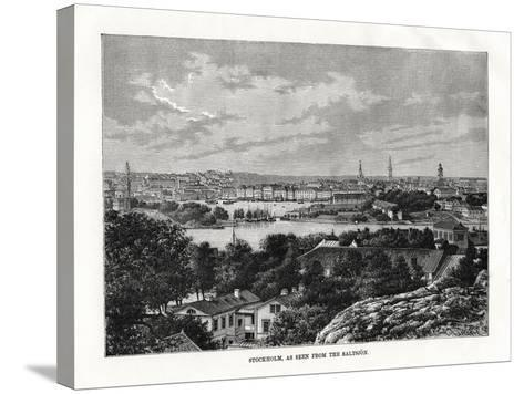 Stockholm, as Seen from the Saltsjon, Sweden, 1879- Laplante-Stretched Canvas Print