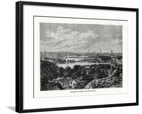 Stockholm, as Seen from the Saltsjon, Sweden, 1879- Laplante-Framed Art Print
