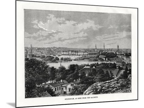 Stockholm, as Seen from the Saltsjon, Sweden, 1879- Laplante-Mounted Giclee Print