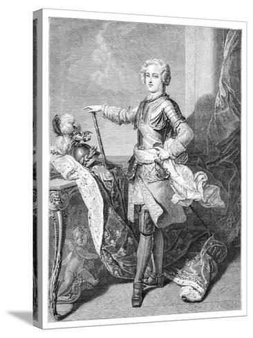 A Young Louis XV- Larmessin-Stretched Canvas Print