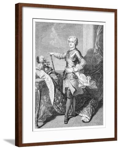 A Young Louis XV- Larmessin-Framed Art Print