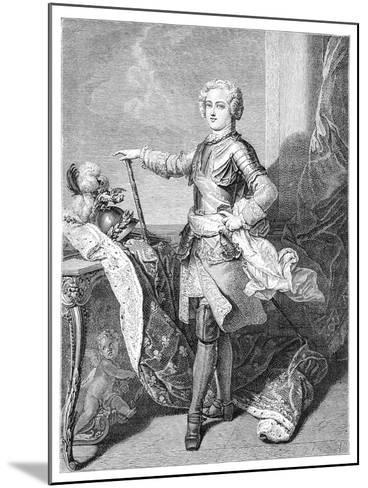 A Young Louis XV- Larmessin-Mounted Giclee Print