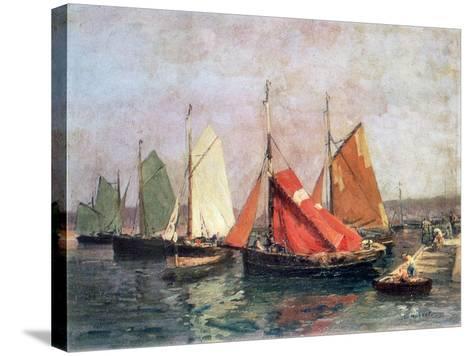 The Coast of Breton, C1907-1915-Leon Hubert-Stretched Canvas Print