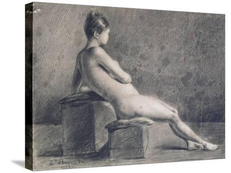 Model in Profile, C1853-1922-Leon Joseph Florentin Bonnat-Stretched Canvas Print