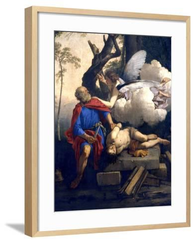 Abraham's Sacrifice, 17th Century-Laurent de La Hyre-Framed Art Print