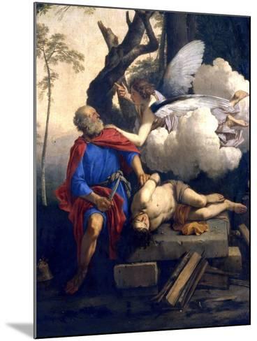 Abraham's Sacrifice, 17th Century-Laurent de La Hyre-Mounted Giclee Print
