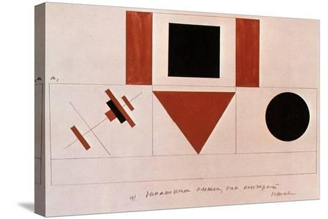 Design for the Speaker's Rostrum, 1919-Kazimir Malevich-Stretched Canvas Print