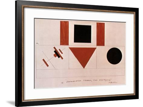 Design for the Speaker's Rostrum, 1919-Kazimir Malevich-Framed Art Print